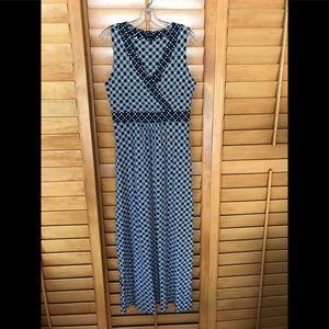 cotton blend summer maxi dress